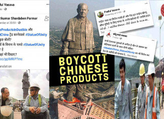 Statue of Unity too gets caught in boycott Chinese product campaign