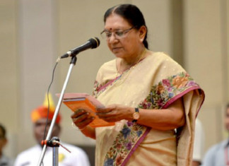 Anandiben Patel takes charge as Madhya Pradesh Governor