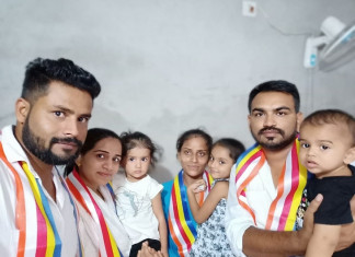 Policeman who faced discrimination, converted in to Buddhism with family in Khambhisar village of Gujarat