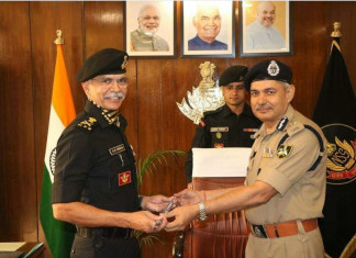 IPS Officer Anup Singh took over the charge as new DG of NSG