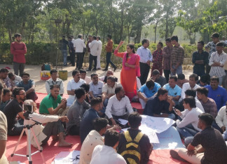 Protest for Bin Sachivalay Exam Cancellation Continues for 4 Consecutive Days