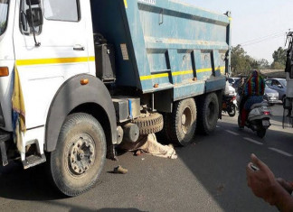 Truck run over by 66 Year Old Woman to death at Panjrapol Crossroad