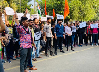 ABVP Students Rally in Support of CAA, Burst Firecrackers & Express Their Happiness