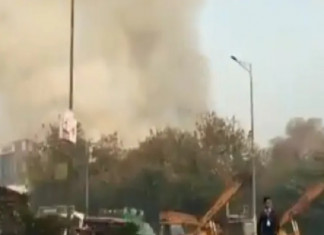 Delhi:13 Firefighters Injured as Building Collapses After Fire at Factory in Peera Garhi