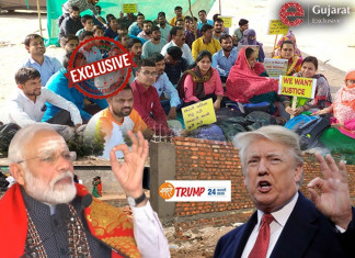 In the Middle of 100 Cr. Trump Tour, Gujarat Stuck in Movement of 5 Unemployed Associations