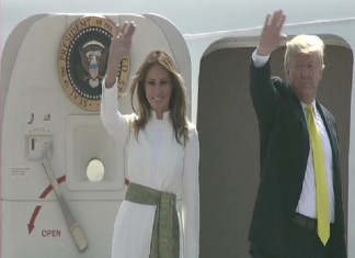 US President Donald Trump and First Lady Melania Trump Leave for Agra to Visit Taj Mahal