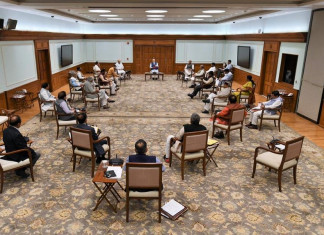 Cabinet Meet: PM Modi, ministers practice social distancing