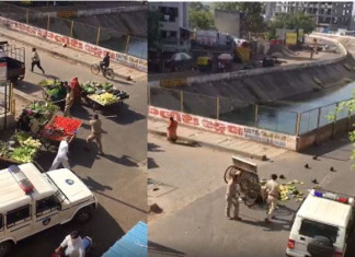 Ahmedabad police receive flak for attacking vegetable vendors