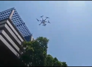 AMC uses drones to disinfect Ahmedabad's hostspots in battle against coronavirus