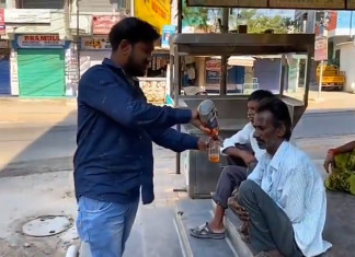 Amid lockdown, man distributes free alcohol to the 'needy'