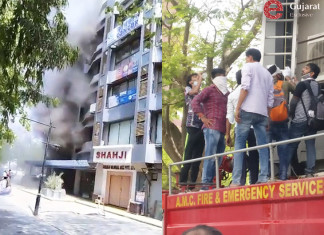 Fire at Sakar-7 building, one dead, 40 rescued