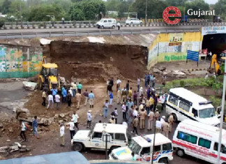Guj govt orders magisterial probe in NHAI overbridge wall collapse incident