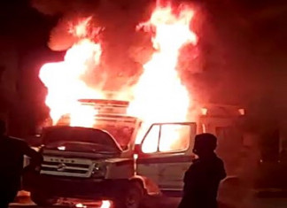 BREAKING: 108 ambulance catches fire in Vatva