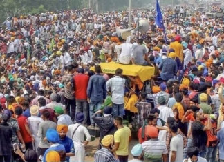 Two farmer unions leave protest over violence during tractor rally