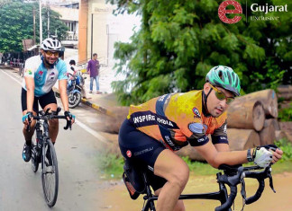 Ahmedabad cyclist, who claimed to be the fastest ever to cycle from Kashmir to Kanyakumari, caught hitching a ride midway!