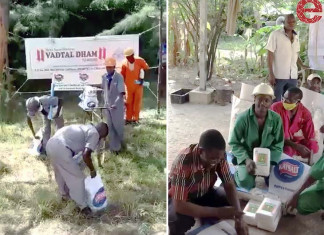 Vadtal Swaminarayan Temple in East Africa offered ration kits for 1100 needy people for six months.