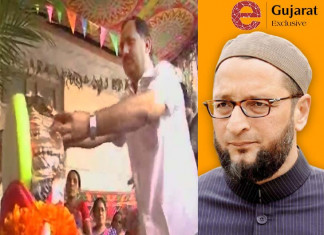 AIMIM's newly appointed Gujarat chief Sabir Kabliwala takes shelter in temple