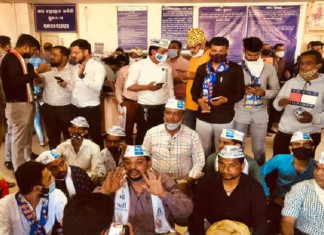 AAP wants Surat BJP candidate's nomination form cancelled, begins 'Ram Dhun' protest