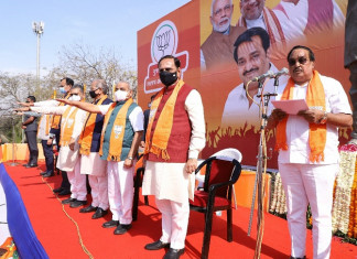 Gujarat BJP administers oath to party workers, candidates on Samarpan Diwas