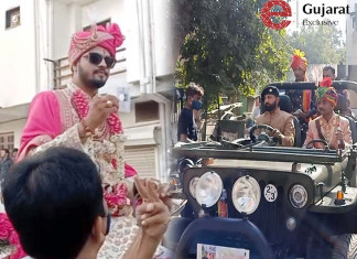 Bridegrooms reach polling stations in Ahmedabad to cast vote ahead of marriage