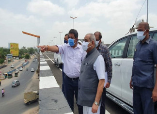 Flyover near Vaishnodevi circle on SG highway built at cost of Rs28 cr to be thrown open for public soon, Nitin Patel